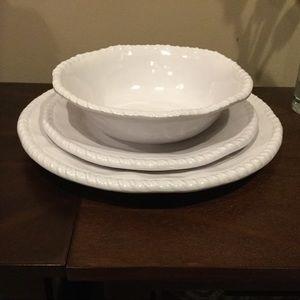 4 White Melamine 3-Pc Place Settings FOR ROSEE79